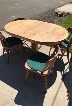 Oak table and chairs for Sale in Cle Elum, WA