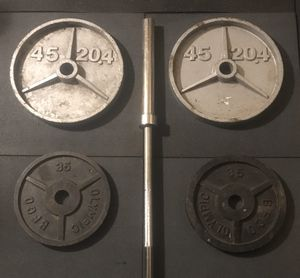 Home gym workout equipment, Olympic weight equipment for Sale in Kent, WA