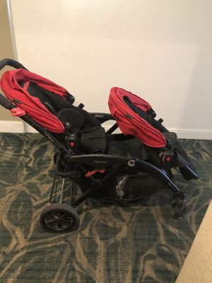 Contour Double Stroller w car seat adapters for Sale in San Diego, CA