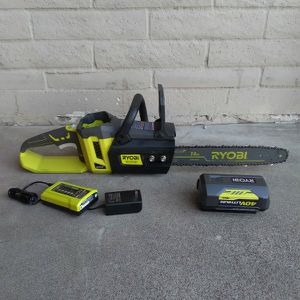 CHAINSAW CORDLESS RYOBI 40V BATTERY AND CHARGER INCLUDED for Sale in Glendale, AZ