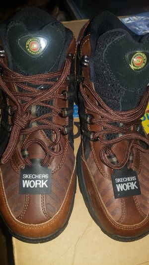 Sketchers work boots men's size 10.5 for Sale in Alexandria, VA