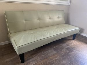 Leather Futon Couch for Sale in Dallas, TX