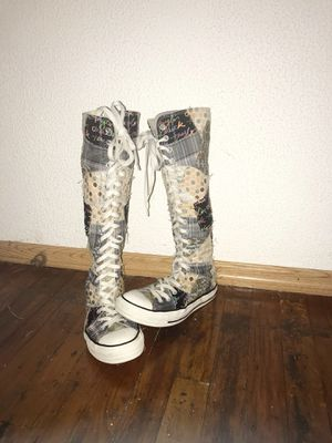 Knee high women's patchwork converse $35 for Sale in Seminole, FL