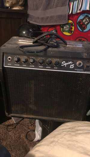 Fender squire 15 amp / speaker must sell tonight or tomorrow ( by Tuesday July 7th by 3 pm at the latest ) prices to sell !!! for Sale in Pasco, WA
