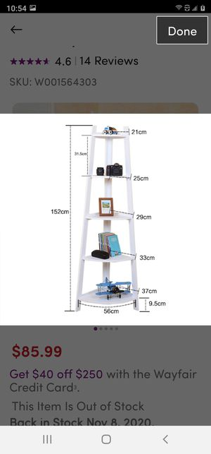 White ladder bookcase for Sale in Whitehall, OH