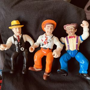 1990 Coppers & Gangsters Dick Tracy Flat Top Sam Catchem Set Of 3 Figures for Sale in Waco, TX