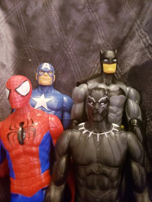 Spiderman blackpanther captain America batman for Sale in Henderson, NV