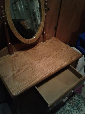 Girl's or Young Lady's Make-Up Table with Mirror and Chair for Sale in Phoenix, AZ