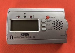 Korg Ga-30 Guitar/bass Tuner for Sale in West Covina, CA