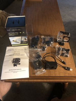 itek Action Pro 1080p ultra HD sports camera for Sale in Erie, PA