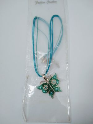 Women's/Junior's Cord Butterfly Necklace With Gems for Sale in Turlock, CA