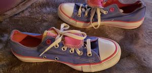 Converse all star double tounge excellent condition size 7 for Sale in Greenwich, CT