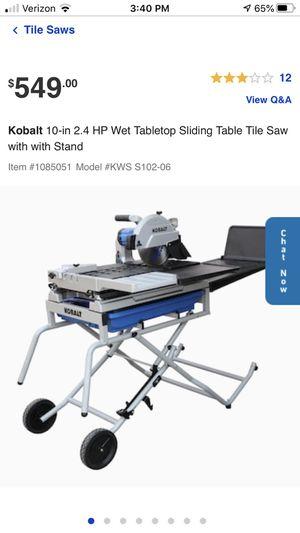 "Wet tile saw KOBALT 10"" for Sale in West Springfield, VA"