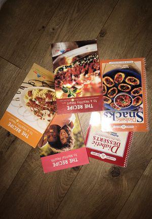 Diabetes/mental health diet recipe books for Sale in Garden Grove, CA