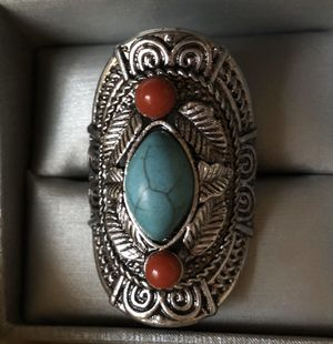 Southwest Turquoise and Coral ring for Sale in Plato, MO
