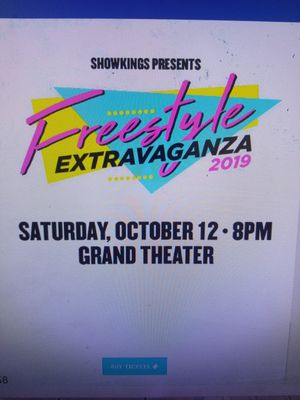 2 tickets to Freestyle Extravaganza tomorrow for Sale in Bristol, CT