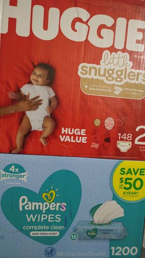 Huggies Little Snugglers & Pampers Baby Wipes for Sale in Mesa, AZ