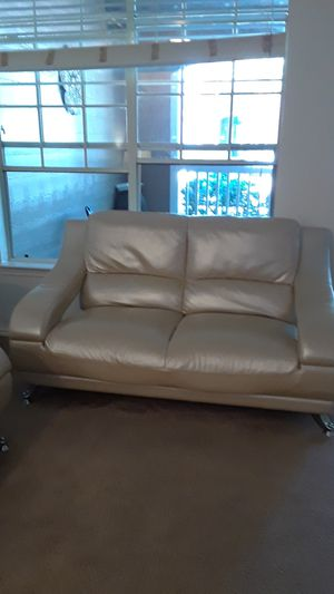 Gold letter sofa and loveseat for Sale in Houston, TX