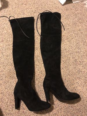 Black thigh high boots/ over the knee size 8 for Sale in Holladay, UT