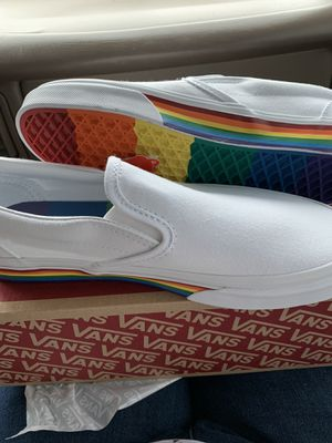 "Rainbow ""Pride"" Slip On Vans sz 7Men/8.5Wm for Sale in Blountville, TN"