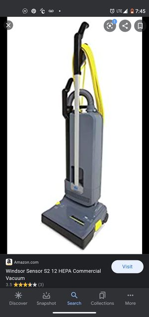 Windsor sensor 12 commercial upright vaccum for Sale in HILLTOP MALL, CA
