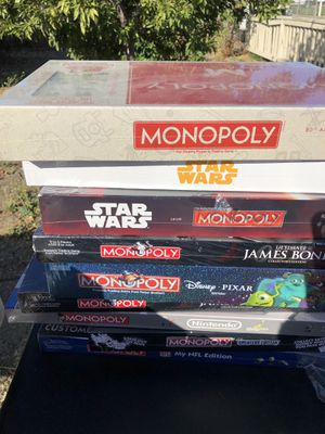 Monopoly board games for Sale in Martinez, CA