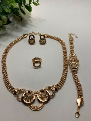Jewelry Set, 18K Gold Plated, 5 Piece for Sale in Los Angeles, CA