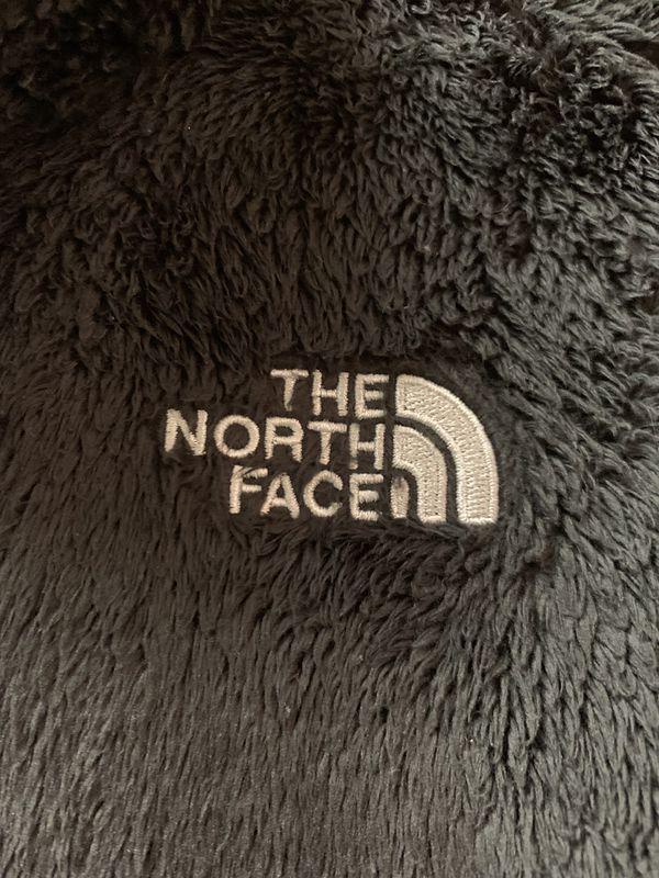 North face jacket (fleece style) in black