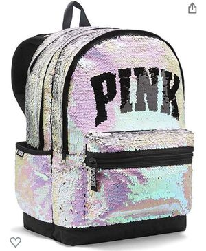 Victoria's Secret Pink Bling Sequin Full Size Backpack Padded laptop NEW for Sale in CHAMPIONS GT, FL