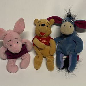Winnie The Pooh Beanbag Stuffies for Sale in Los Angeles, CA
