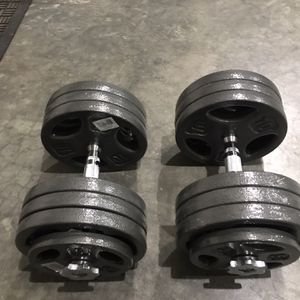 New 150lb Adjustable Dumbbells 2 -75lb Dumbbells With Steel Handles for Sale in Newcastle, WA