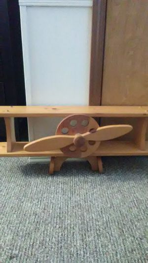 Wood air plane shelf for Sale in Auburn, IN