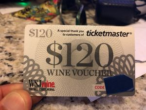 $120 voucher wine for Sale in Denham Springs, LA