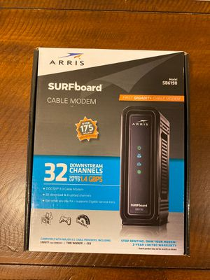Arris Surfboard cable modem SB6190 for Sale in Edgewood, KY