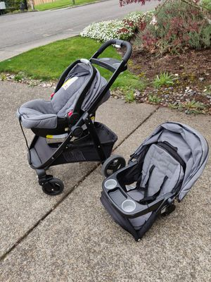 Graco Click-Connect travel system + extra base for Sale in Tigard, OR