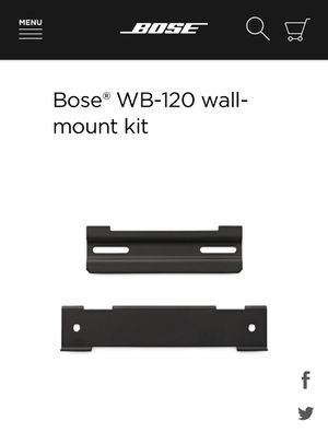 Bose Soundbar Wall Bracket Kit for Soundtouch 120 or Bose Solo 5 for Sale in Long Beach, CA