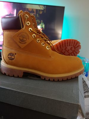 MEN'S TIMBERLAND BOOTS 6 INCH PREMIUM WATERPROOF W/L WHEAT for Sale in Fort Lauderdale, FL