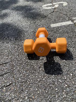CAP Neoprene 8 lb Dumbbell Set (16 lbs Total) for Sale in Smyrna, GA