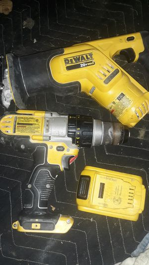 DeWalt drill and sawzall for Sale in Modesto, CA