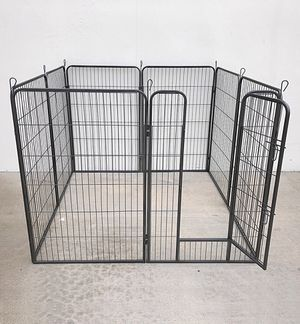 "New in box $125 Heavy Duty 48"" Tall x 32"" Wide x 8-Panel Pet Playpen Dog Crate Kennel Exercise Cage Fence for Sale in Whittier, CA"