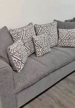 Grey Sofa Set With Pillows for Sale in Chandler,  AZ