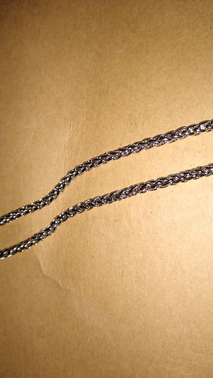 27 inch mini braided silver necklace for Sale in Lakewood Township, NJ