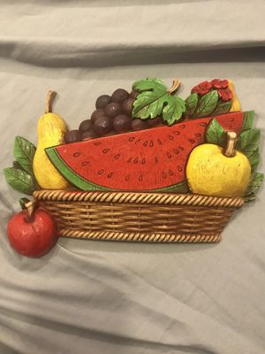 Vintage kitchen fruit basket wall hanging for Sale in Fresno, CA