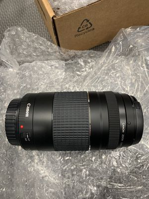Five brand new Canon lenses. Model: EF 75-300 mm f/4-5.6 iii refurbished for Sale in Gig Harbor, WA