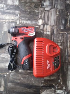 Milwaukee m12 fuel brushless impact drill one battery and charger for Sale in Garner, NC