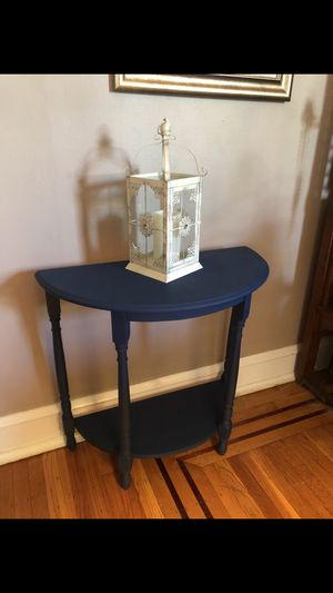 Beautiful blue antique half-moon table for Sale in Philadelphia, PA