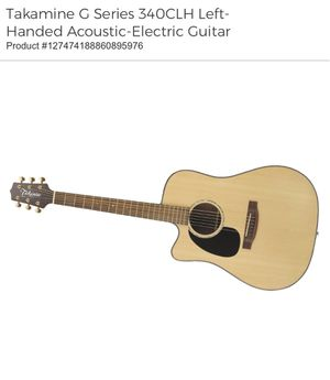 Takamine G Series 340CLH Left-Handed Acoustic-Electric Guitar with Guitar Stand for Sale in Washington, DC