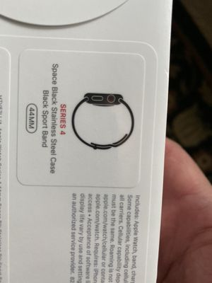 series 4 lte stainless steel space black apple watch NEW SEALED for Sale in Seattle, WA