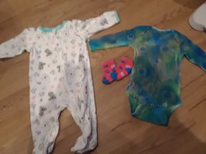 two pieces one pair of socks baby girls clothes size 12 months for Sale in Miami, FL