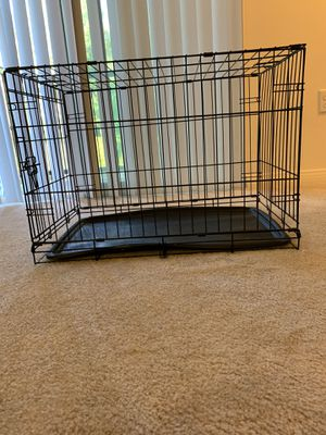 Single-door Metal Dog or Pet Crate with tray for Sale in Irvine, CA